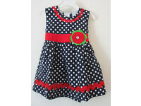 Brand New Girls Dress Black White dots