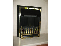Electric flame effect coal fire with convector fan