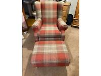 Sherlock chair and footstool