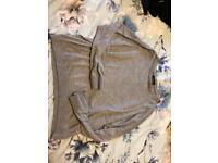 Topshop grey glitter collar jumper