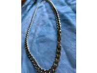 "Solid hollow 9ct gold 22"" chain new, no scratches or marks"