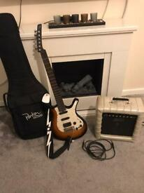 Rare Parker p38 electric guitar and rare Kustom dart 66 amplifier