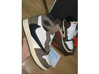 Travis Scott X Nike Air Jordan 1 High 'Cactus Jack' Size 8 UK / 9 US