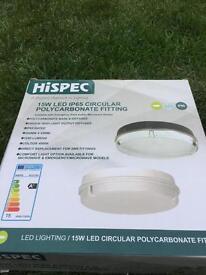 15w led ip165 circular polycarbonate fitting