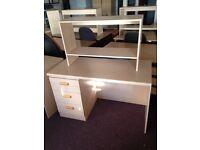 Single Desks with Bookshelf