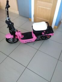 Pink electric 350w monkey bike mophead rideon like brand new