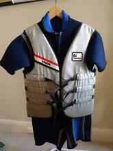 Waterski Wetsuit and Bouyancy vest - size 4.5 fits man size lg Walkerville Walkerville Area Preview