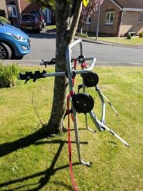 Exodus bike rack for holding three bikes, never been used was £100 selling for £30 Ono.