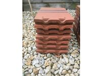 Redland rosemary clay roof tiles smooth - red