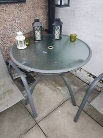 Silver table and chairs