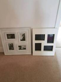 X 2 large white picture frames.