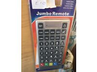 GIANT remote Control (UNIVERSAL) Connects to most TV and DVD players (£10) 01895239607