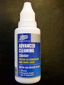 Boots Advanced Cleaning Solution 30ml for RGP and hard lenses