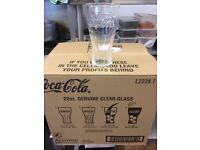 24 22oz Genuine Coca Cola clear glasses