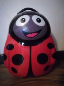 Cuties ladybird suitcase. Hardshell