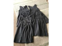 4 x Marks and Spencer Girls School Dresses in Grey age 6/7