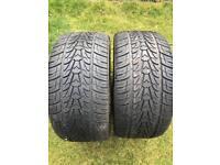 295 30 22 nixen tyres. 8-9mm of tread still like new.