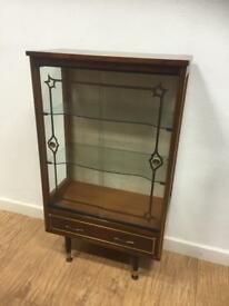 Vintage display cabinet with drawer