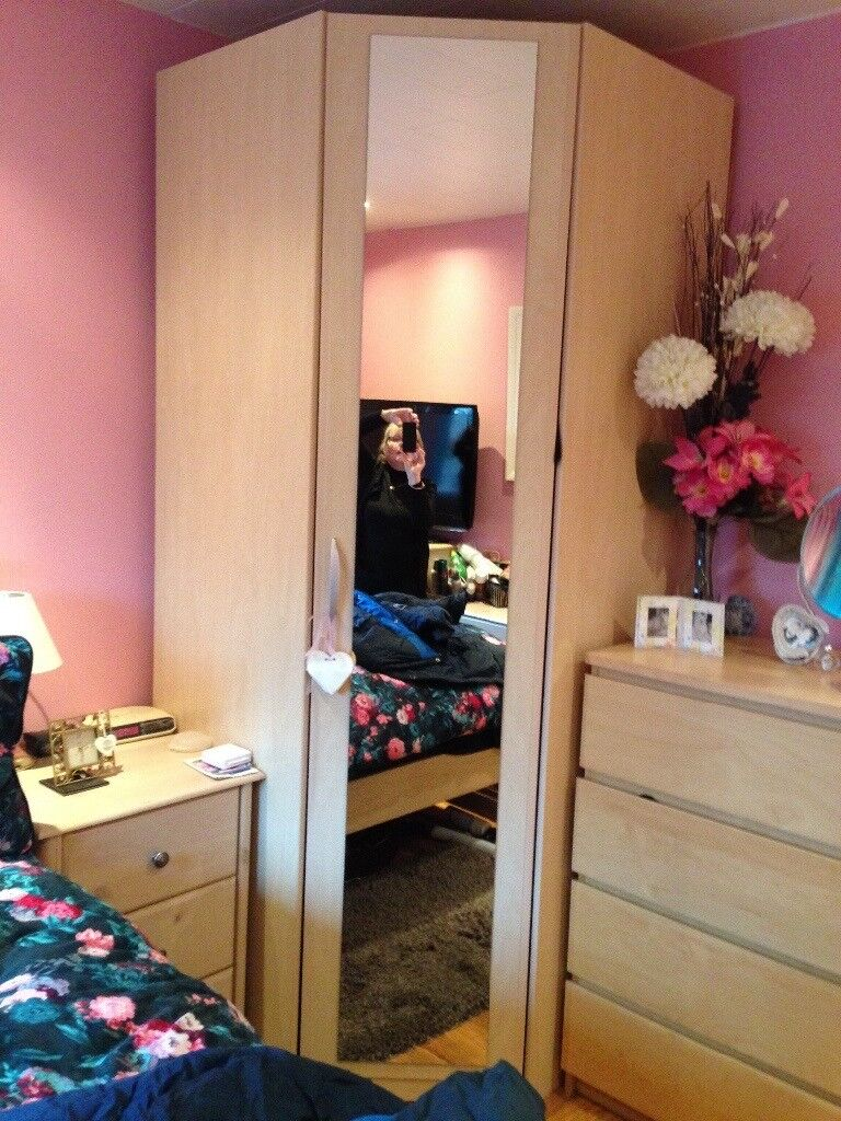 Large walk in mirror door wardrobe. Excellent condition. Pick up only Glasgow area