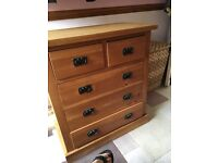 2 over 2 antique chest of drawers
