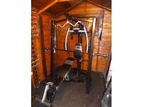 MARCY PLATINUM smith machine , peck deck, pulley, incline decline bench