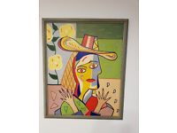 Oil Painting Picasso Style - Large size Framed