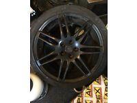 2x18 inch black Audi rs4 alloys