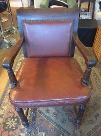 Vintage Studded Leather Armchair