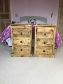 Bespoke Handmade Bedside Tables from Reclaimed Rustic Pallet Wood