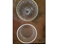 Vintage glass fruit bowls