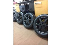 GLOSS BLACK Corsa, Alloy Wheels 14 Inch, Good tyres, 4x100 fitment