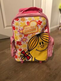 Little Miss Sunshine pull-along suitcase/holdall