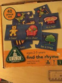 ELC Find the rhyme