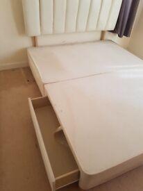 2 single bed base