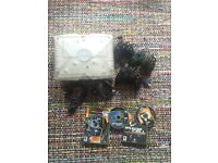 Original Xbox Crystal + 3 controllers + 3 games