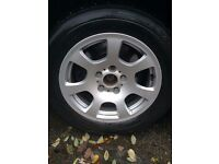Set of 4 BMW E60 16inch SE wheels.