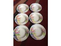 6 royal winton bowls.