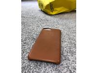 iPhone 7 Plus Apple logo SADDLE BROWN leather case RRP £49.00