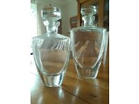 A Pair of Glass Decanters