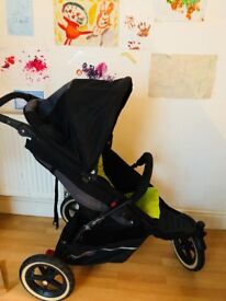 Phil & teds single pushchair with infant cocoon