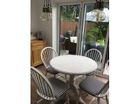 Shabby Chic Solid Pine Table and 4 Chairs