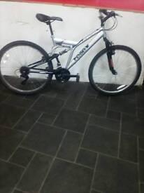 "Silver Reflex Dual Suspension Mountain Bike, 26"" Wheels, 18 Speed, 19"" Frame"