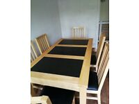 6 seater dining table with seats