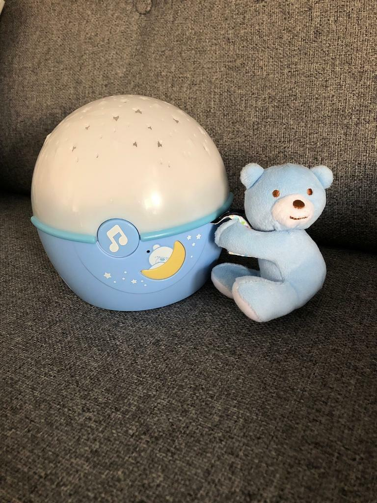 NEW BLUE CHICCO NEXT 2 STARS PROJECTER BABY NIGHT LIGHT//SOOTHING MUSIC