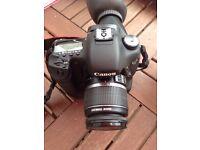 Canon 7D + Battery Grip + flash +18mm - 55mm lens
