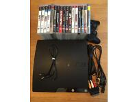 PS3 Slim 120gb with 17 games including GTA5
