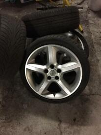 "17"" VAUXHALL ALLOY WHEELS FIT ASTRA ZAFIRA ETC WITH GOOD TYRES"