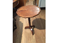 Oak Side Table with Barley Twist Support