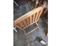 Hardwood garden chairs