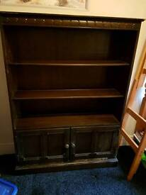 Ercol solid wood bookcase